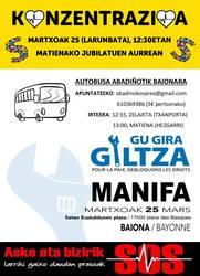 Zapatuan gaixo dauden euskal presoen eskubideen aldeko konzentrazioa Matienan