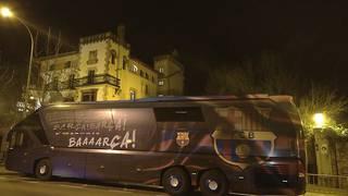 Bartzelona futbol taldeak Durangoko Gran Hotelen hartu du ostatu