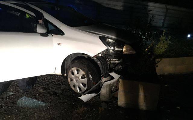 Auto batek istripua izan zuen bart Durangoko Eguzkitza auzoan