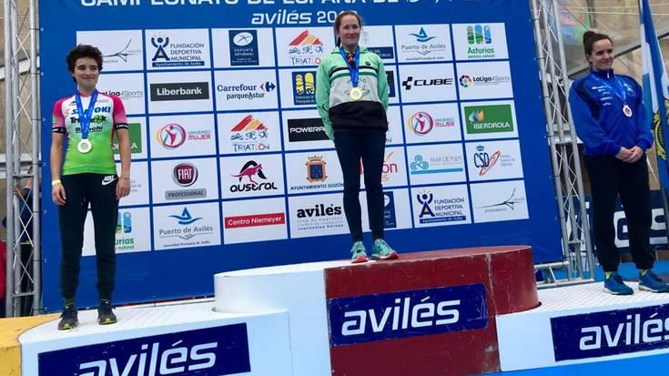 Irene Loizatek zilarrezko domina eskuratu du Espainiako duatloi txapelketan