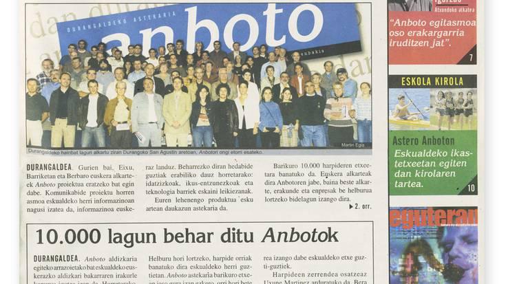 Anbotok gaur 14 urte argitaratu zuen lehenengo alea