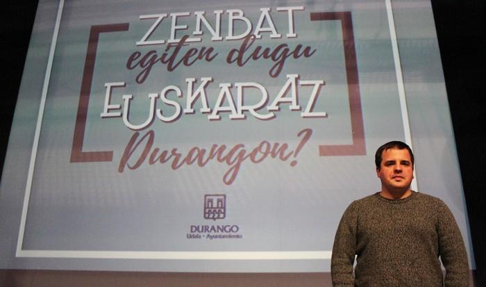 """""""25.000 biztanletik gorako herrietan, Durango da  kaleko erabilera %20 baino altuagoa duen bakarra"""""""