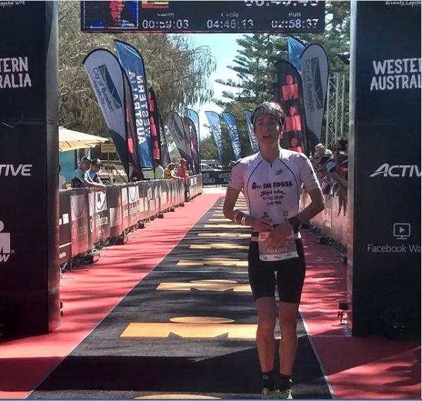 Australiako Ironman proban bederatzi ordutik beherako denbora egin du Gurutze Fradesek; hirugarren amaitu du lasterketa
