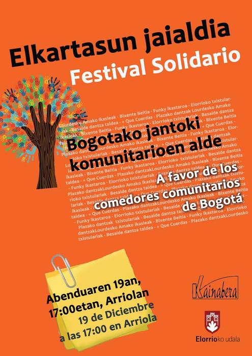 Abenduaren 19an Elkartasun Jaialdia egingo dugu, Bogotáko jantoki komunitarioen alde