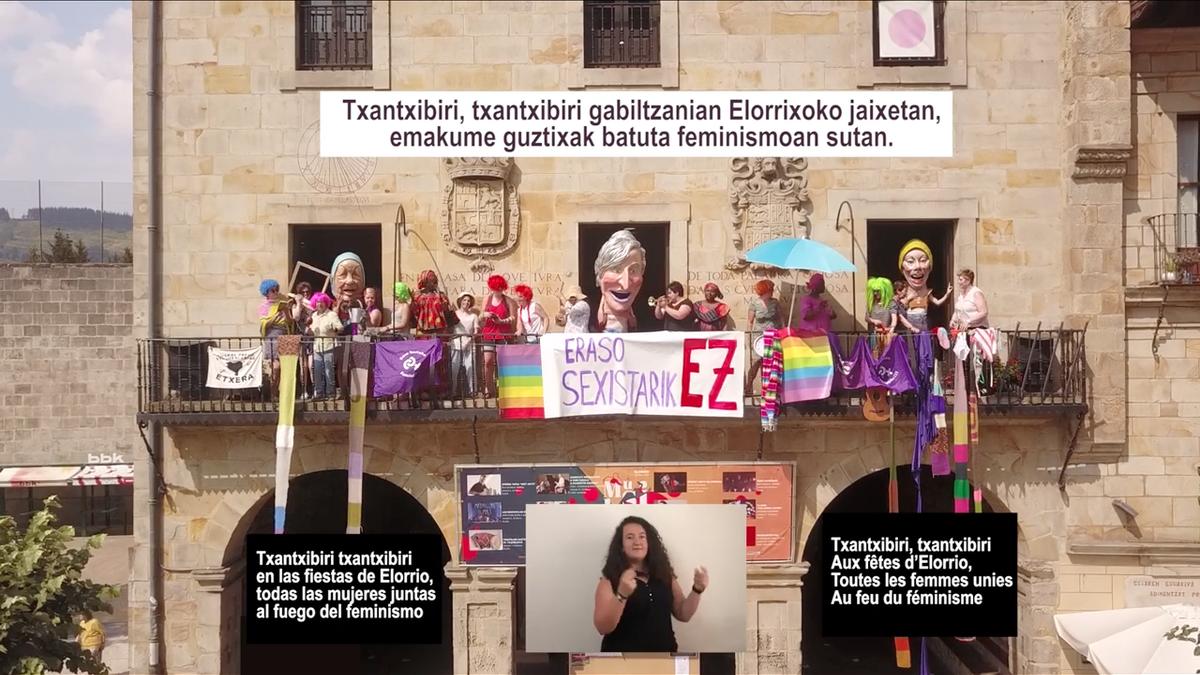 [BIDEOA] Ferixa Nausikoen txupin jaurtiketarako 'Txantxibiri Feminista' prestatu dute