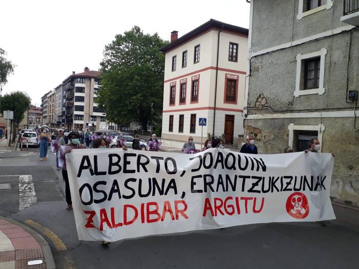 """Zaldibar Argitu: """"Elkartasuna helarazi nahi diegu Sololuzeren eta Beltranen senitartekoei"""""""