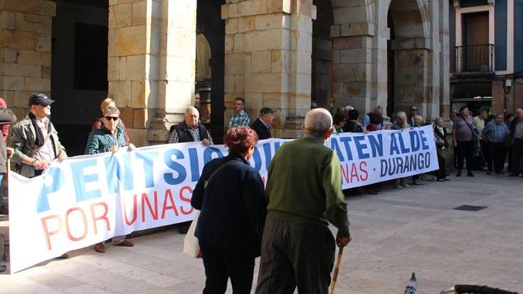 Durango eta Iurretako pentsionistek manifestazio bateratua egingo dute datorren astelehenean
