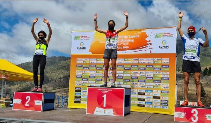 Durango Kirol Taldeko Oihana Kortazarrek zilarrezko domina irabazi du Espainiako Trail Txapelketan