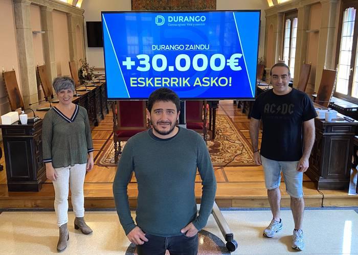 Durango Zaindu kanpainak 33.000 euro baino gehiago batu ditu