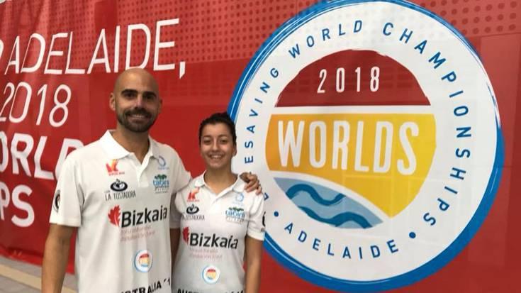Lucia Jimenez eta Gonzalo Diaz durangarrak Australian dira, salbamenduko munduko txapelketan