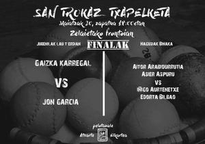 San Trokaz pilota txapelketako finalak zapatuan Abadiñon