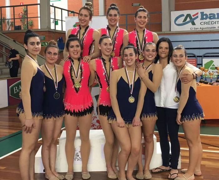 Uztai taldeak Euskadiko Txapelketa irabazi du gimnasia erritmikoan