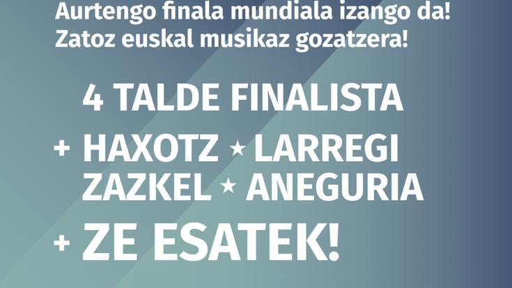 Banden Lehiak baditu finalistak: Belatz, Dekot, Zizel eta Nau