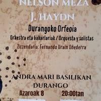 Nelson Meza J Hydn eta Durangoko Orfeoia