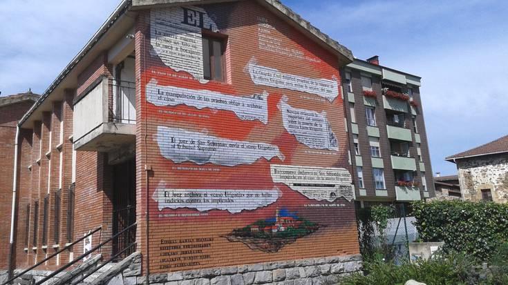 Luzia Urigoitiari eskainitako murala eta Ruben Garateri buruzko olana kentzea agindu du EAEko Auzitegi Nagusiak