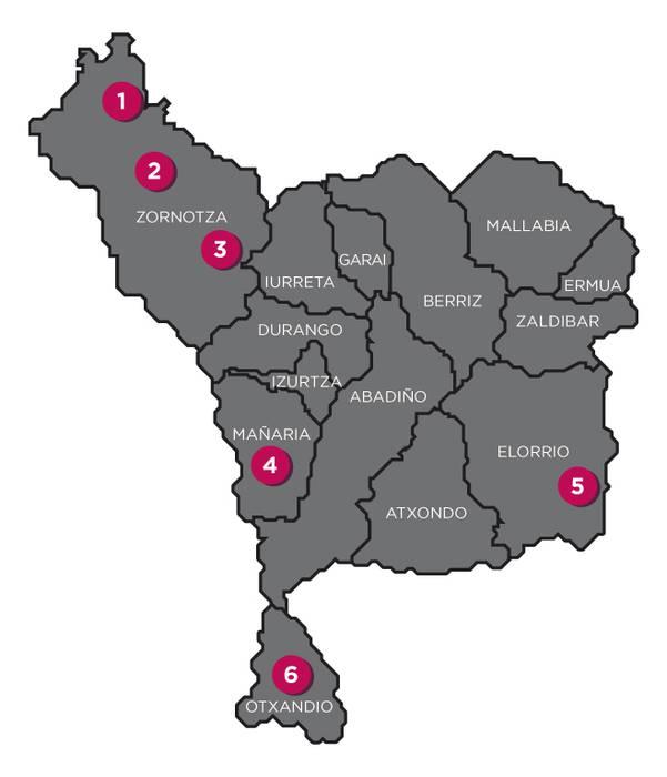 Durangaldean 6 hobi komun lokalizatu dituzte, momentuz
