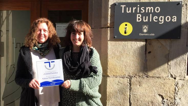 Elorrioko turismo bulegoa saritu dute kalitate turistikoaren etengabeko hobekuntzarako konpromisoagatik