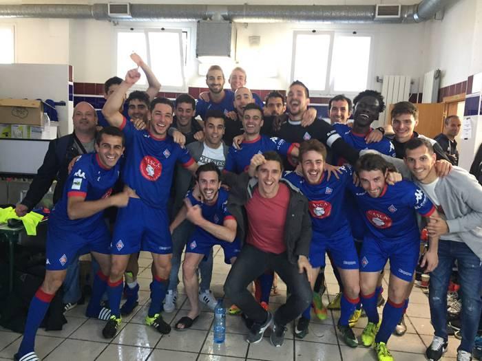 Amorebieta futbol taldeak mailari eutsi dio Logroñesi irabazita