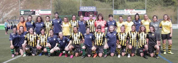Lagunarteko futbol partiduan 1.000 euro inguru batu dituzte Biak Bat klubaren alde