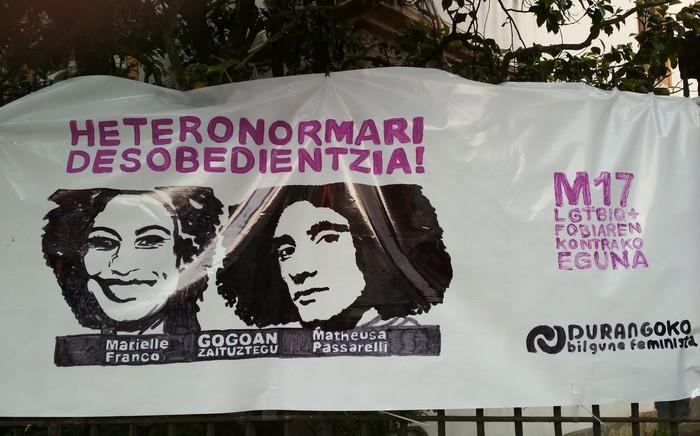 """""""Heteropatriarkatu kapitalistari desobedientzia! LGTBIQ+fobiari stop!"""""""