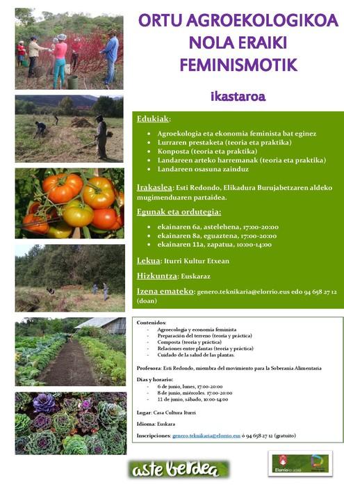 Ortu agroekologikoa nola eraiki feminismotik
