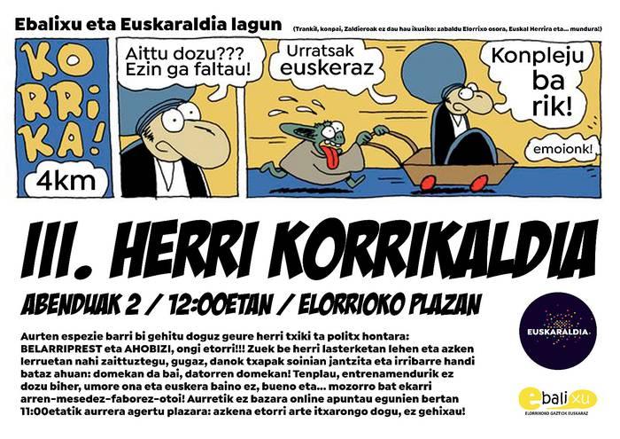 Euskaraldia amaitzeko, korrikaldia eta herritarron bizipenei buruzko ekitaldia
