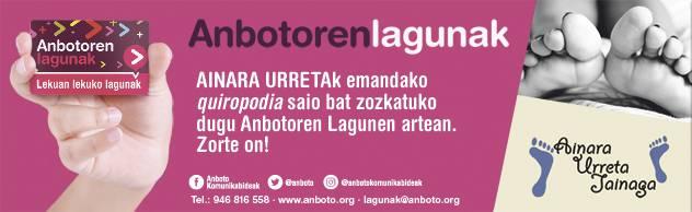 Ainara Urretak emandako 'quiropodia' saioa bat zozketuko du ANBOTOk