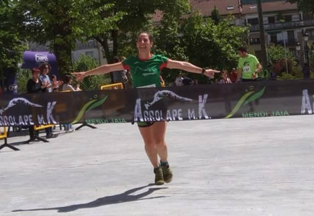 Garazi Sampedrok eta Ibon San Miguelek Gernikako mendi lasterketa irabazi dute