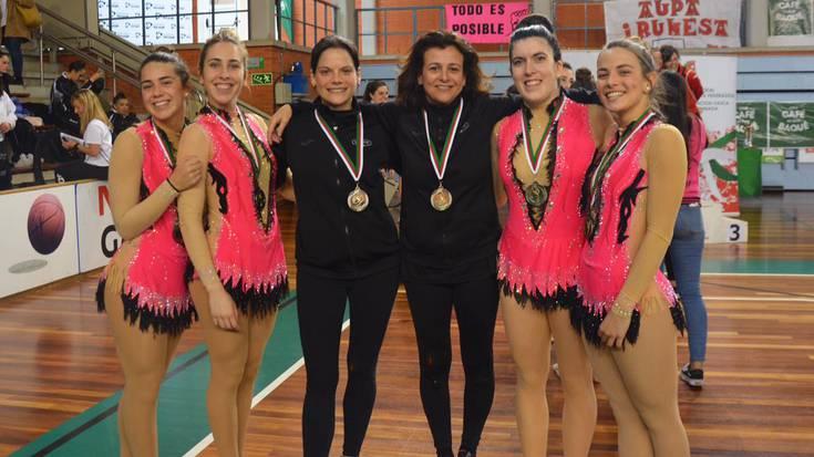 Uztai taldeko gimnastak txapeldunorde Euskadiko txapelketan