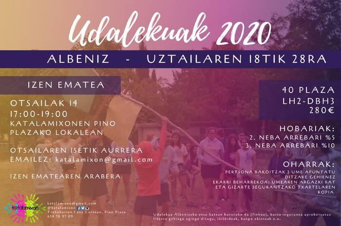 UDALEKU ITXIAK 2020