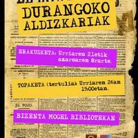 Durangoko aldizkari historikoei buruzko erakusketa antolatu du Gerediagak