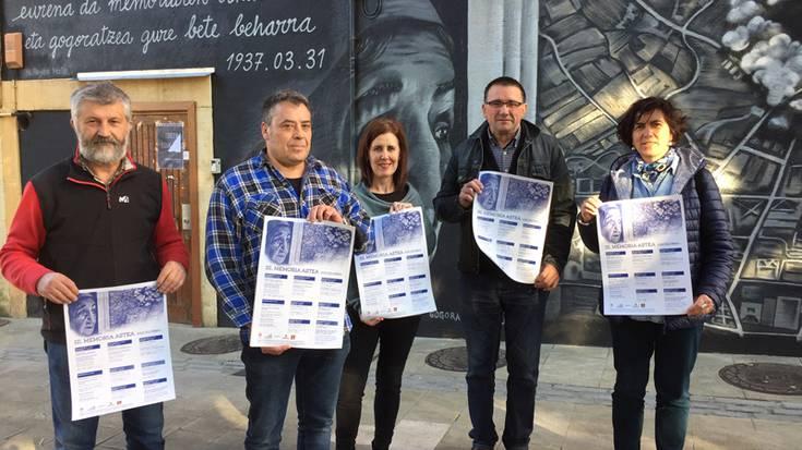 Elorrioko Memoria Astean antolatutako ekitaldi sorta aurkeztu dute
