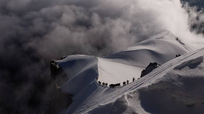 Zerura jaitsiera Aguile du Miditik, Chamonix