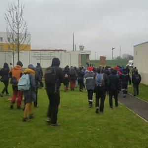 Durangaldetik Parisera, presoen eskubideen aldeko manifestaziora