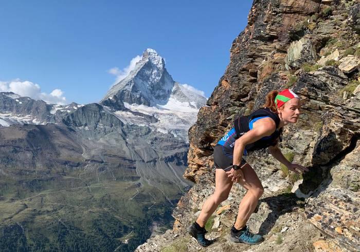 """Oihana Azkorbebeitia hamargarren Matterhorn Ultraks """"Extreme"""" mendi lasterketan."""