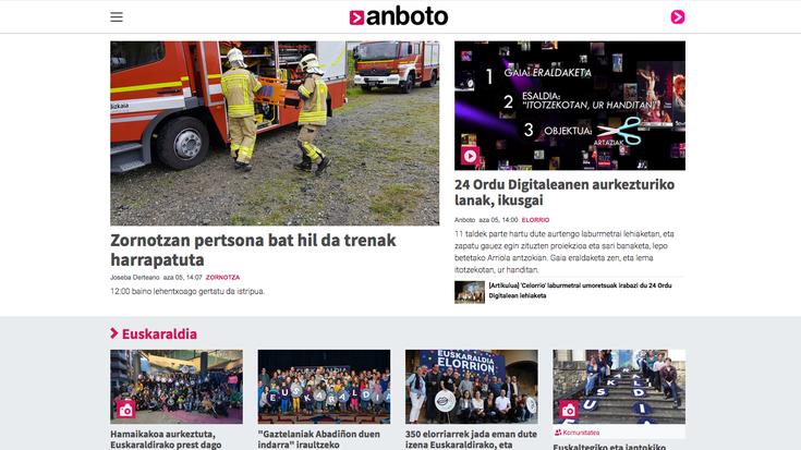 'Anboto.org' mugikorrei begira berrituta dator