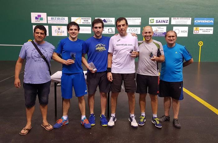 Durangoko eta Elorrioko bikoteak irabazi du Mallabiko frontenis maratoia