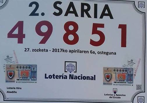 Atzoko loteriak 60.030 euroko saria utzi zuen Traña-Matienan