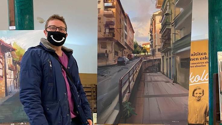 [ARGAZKI GALERIA]: Eduardo Alsasuak irabazi du Berrizko XXI kaleko pintura lehiaketa