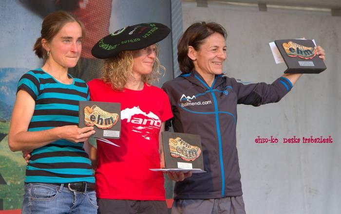 Hiru Handiak mendi lasterketaren ostean Ehunmilak irabazi ditu Silvia Triguerosek