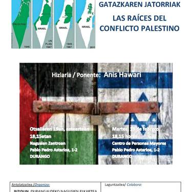 'Palestinako gatazkaren jatorriak'